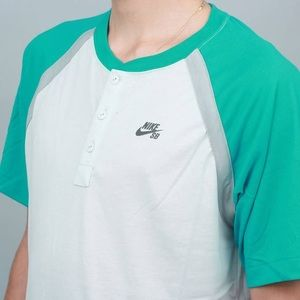 Men's Teal & White Sb Everett Drifit Henley